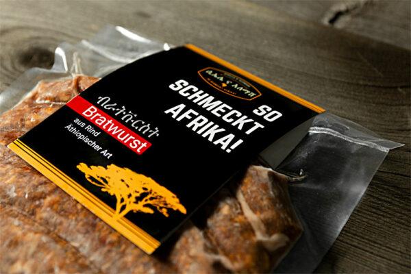 So schmeckt Afrika – mit unserer leckeren Bio-Rinder-Bratwurst mit äthiopischem Berbere – für uns produziert.