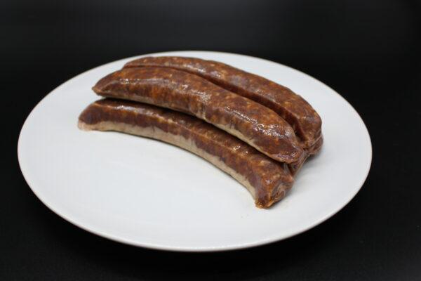 Die Bratwurst ist tiefgefroren in 5er-Paketen verpackt, was einem Gewicht von 500 Gr. entspricht.