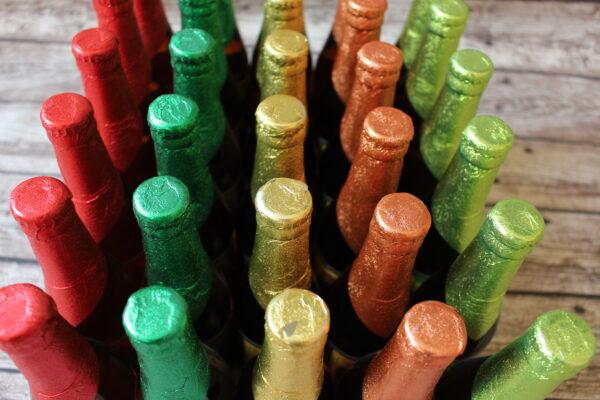 Allein die Flaschen sehen aus, wie ein bunter Strauß an leckerem Fruchtbier – probieren Sie selbst!