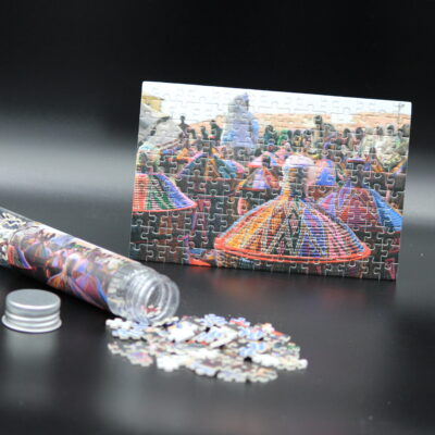 Dieses Londji-Puzzle zeigt einen typischen Markttag in Äthiopien in 150 Teilen. Dieses Bild entstand durch Marion Sprenger.