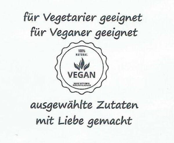 … und auch Vegetarier und Veganer kommen mit dieser Leckerei auf Ihre Kosten!!