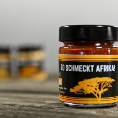125 ml original Senf äthiopischer Art! Das Rezept haben wir direkt aus Äthiopien mitgebracht, wo er hausgemacht wird.