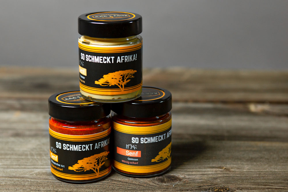 Für alle, die Schärfe nicht mögen oder vertragen: wir haben zwei weitere leckere Senf-Spezialitäten für Sie kreiert!